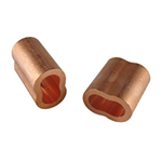 Copper Oval Sleeves
