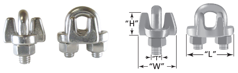 Drop Forged Style SS Wire Rope Clips